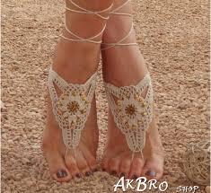barefoot sandals golden crochet barefoot sandals flippies