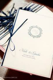 booklet wedding programs ceremony programs await the guests vintage wedding ideas