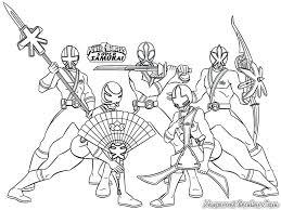 power rangers samurai coloring pages movie super