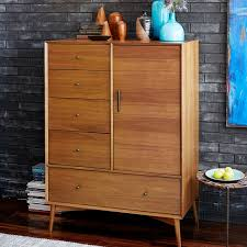 West Elm MidCentury Chifforobe Acorn Hotel Guest Room Drawers - West elm mid century bedroom furniture