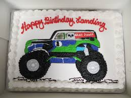 toy grave digger monster truck grave digger monster truck hand drawn on our sheet cake hand