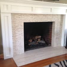 fireplace with natural stone mosaic and 12 x 24 floor tile yelp
