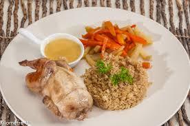 caille cuisine cailles flambées au cointreau légumes de saison et quinoa