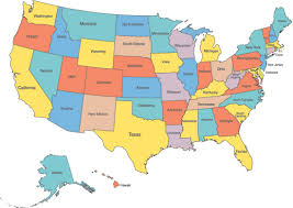 usa map just states how to learn the 50 us states geoguide
