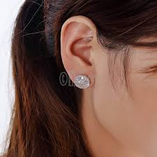 clear earrings luxurious top clear zirconia paved zircon stud earrings
