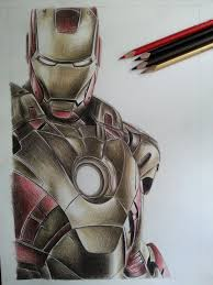 iron man pencil drawing drawing art gallery