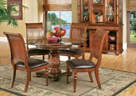 cindy crawford home key west tobacco 5 pc round dining room with