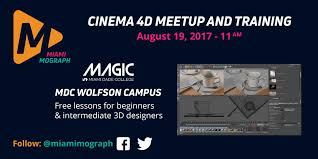 Miami Dade Wolfson Campus Map by Miami Mograph Cinema 4d Meetup And Training September 30 2017