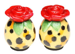 funny salt and pepper shakers unusual salt and pepper shakers whimsical red rose unique salt