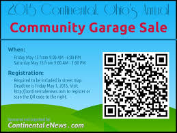 continental community garage sales reminder continental enews