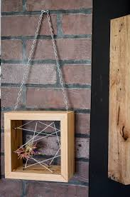 air plant rustic reclaimed recycled salvaged wood hanging holder