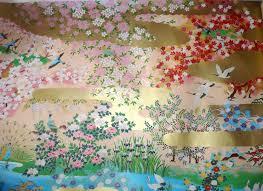 Peinture Cerisier Japonais by Souvenir Du Pays Du Soleil Levant Une Merveilleuse Peinture