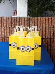 minion party ideas creative idea yellow minion bags on blue table cloth enjoyable