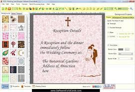 wedding ceremony cards wedding cards designing software make invitation marriage cards