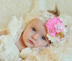 baby hairbands pink gold baby headband baby girl headband newborn headband baby