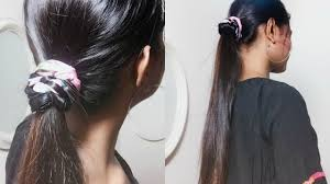 college hairstyles in rebonded hai sophisticated ponytail hairstyle for school college girls youtube