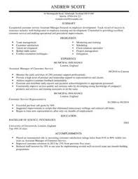 Plain Text Resume Example by Assistant Manager Cv Example For Customer Service Livecareer