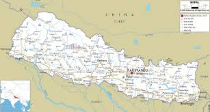 map on road detailed clear large road map of nepal ezilon maps