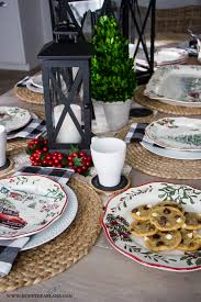 vintage christmas table setting honeybear lane
