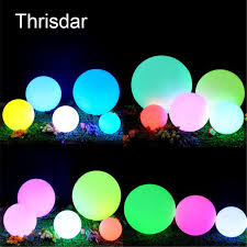 floating pool ball lights rgb rechargeable outdoor garden lawn landscape floor ball ls led