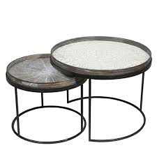 Round Trays For Coffee Tables - notre monde round tray tables set low 20726 metal frame