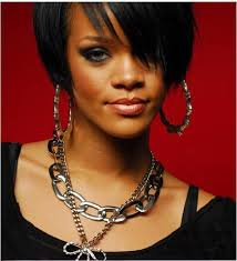 rihanna hoop earrings hot sale rihanna basketball gold tone heart bamboo joint