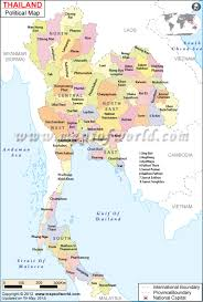 Thailand On World Map by Political Map Of Thailand Thailand Provinces Map