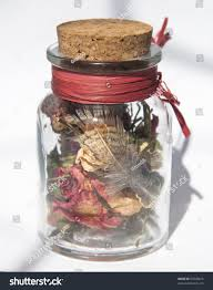 small bottle dried flowers home decoration stock photo 83549815