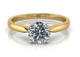 gold engagement rings uk 18ct yellow gold single engagement ring h si 0 40