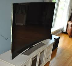 Picture Of Tv My Life With A Curved Tv Day 1 Cnet