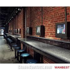 Narrow Bar Table Modern Design Solid Surface Long Narrow Bar Table Restaurant Fast