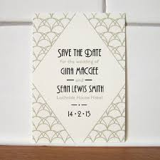 Wedding Save The Dates Art Deco Save The Date Card By Lovat Press Notonthehighstreet Com