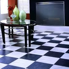 black and white painted floorblack checkerboard vinyl floor tiles