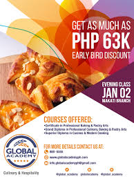 cuisines discount global academy evening class promo in makati cuisines discount