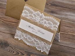 burlap and lace wedding invitations stunning diy burlap wedding invitations images styles ideas