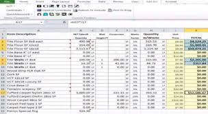 Excel Costing Template Project Cost Estimate Excel Template Sheet