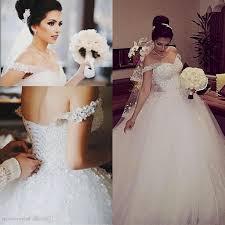 wedding dresses ball gown sparkly and lace naf dresses