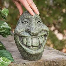 bits and pieces big smiley polyresin garden statue