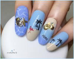 sodanail summer palm tree nail art self beach nail design