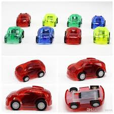 2017 mini tansparent car toys pull car toy children