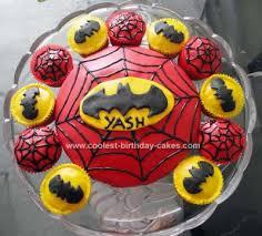 cool homemade superhero birthday cake