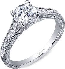 engraved wedding rings sylvie engraved diamond engagement ring sy886