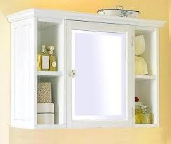bathroom cabinets single mirrored door white wood bathroom wall