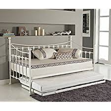 happy beds meadow guest bed and trundle soft white wooden frame