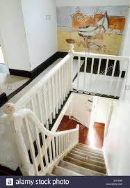Stairs With Landing by Carreg Fawr Victorian Farmhouse Bardsey Island N Wales Showing