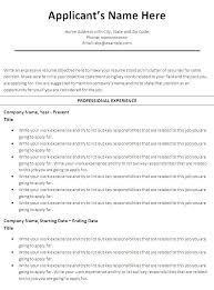 free basic resume templates microsoft word printable student