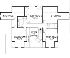 Small 4 Bedroom Floor Plans Farmhouse Style House Plan 4 Beds 3 50 Baths 3493 Sq Ft Plan 56 222