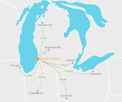 Wisconsin On Us Map by South Haven Visitors Bureau