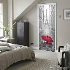home design 3d remove wall 3d door sticker diy mural imitation paris eiffel tower waterproof