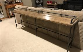 Behind The Couch Bar Table Sofa Awesome Extra Long Sofa Table 35 Living Room Sofa Ideas